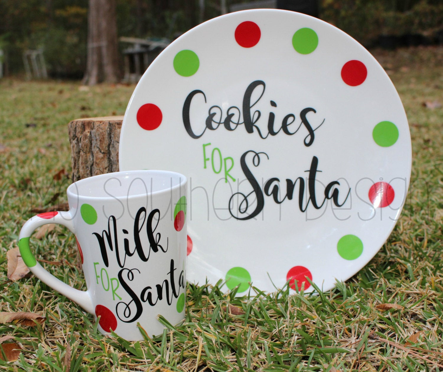 Christmas Cookies Plates  Christmas Cookie Plate Cookies and Milk for by