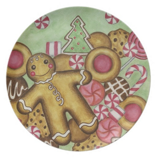 Christmas Cookies Plates  Christmas Cookies Decorative Plate