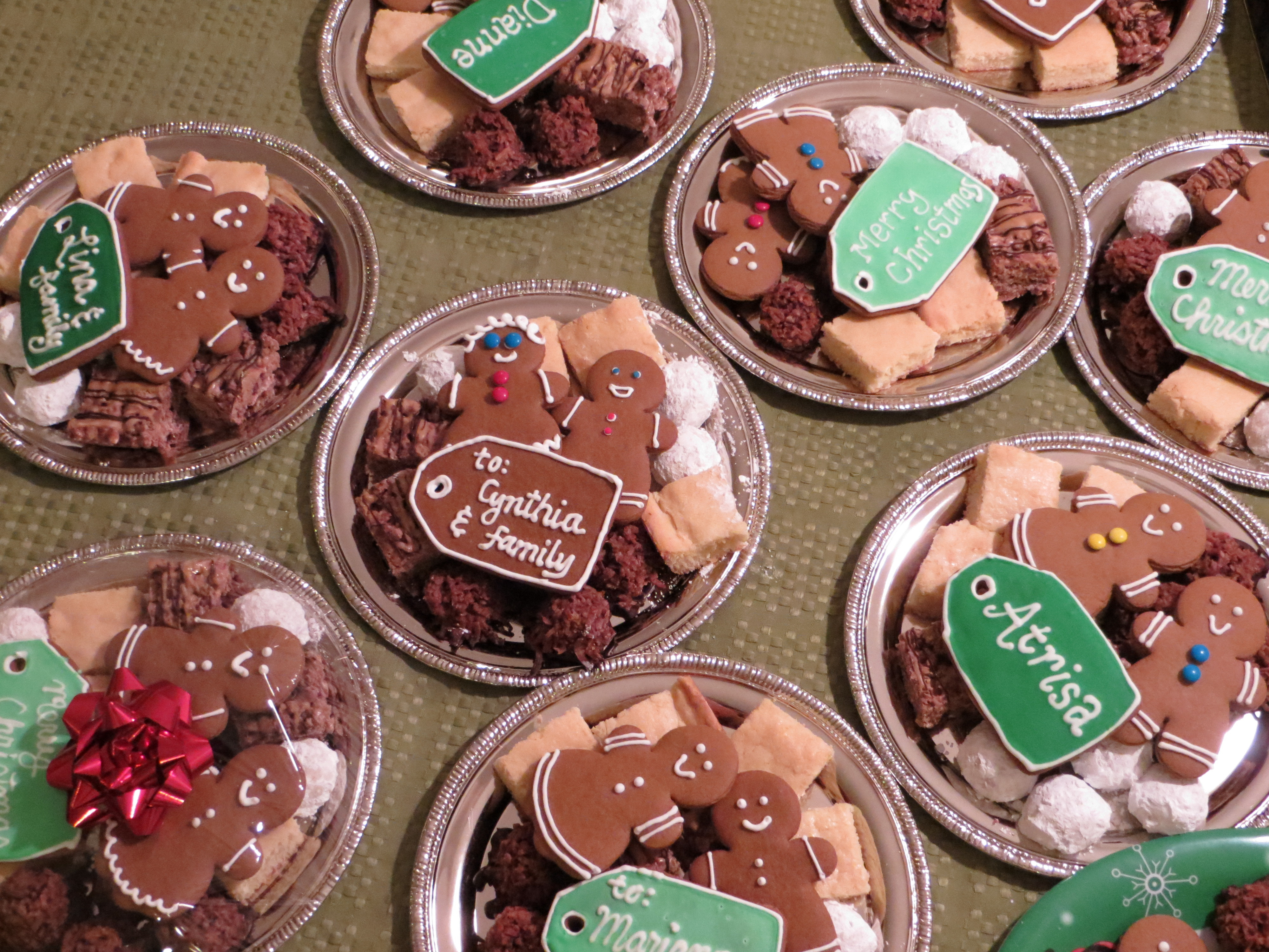 Christmas Cookies Plates  cookies