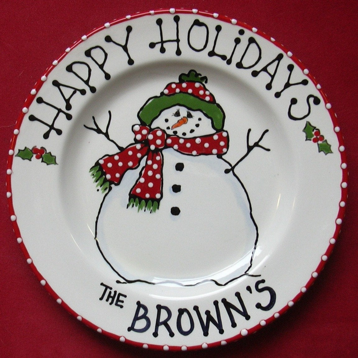 Christmas Cookies Plates  Snowman Plate cookies for santa santa cookie plate child