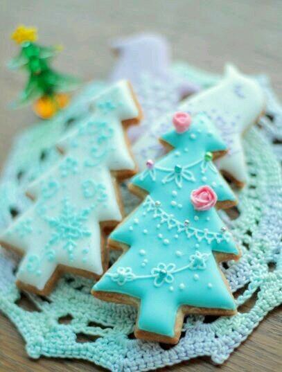 Christmas Cookies Tumblr  pink christmas cookies