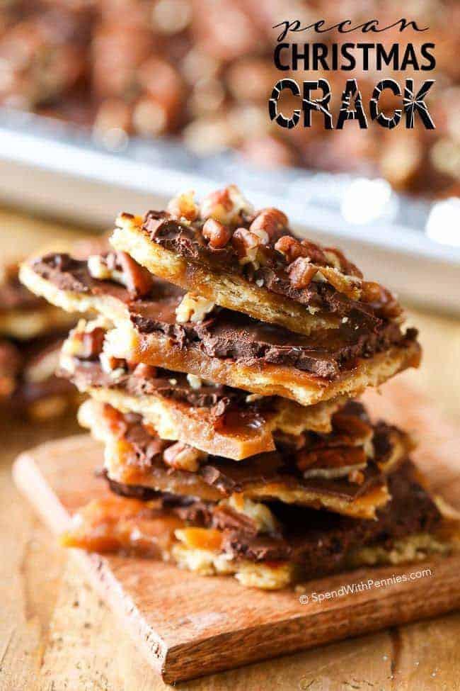 Christmas Crack Cookies  Pecan Christmas Crack Ritz Cracker Toffee Spend With