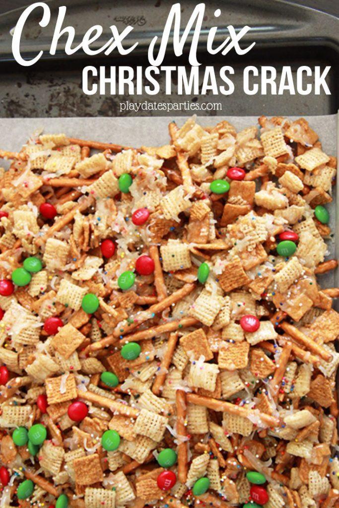 Christmas Crack Recipe With Ritz Crackers  Christmas Crack Chex Mix Candy and Ritz Cracker Candy
