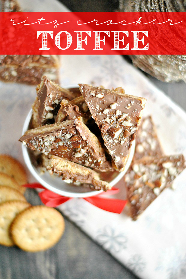 Christmas Crack Recipe With Ritz Crackers  Ritz Cracker Toffee Something Swanky