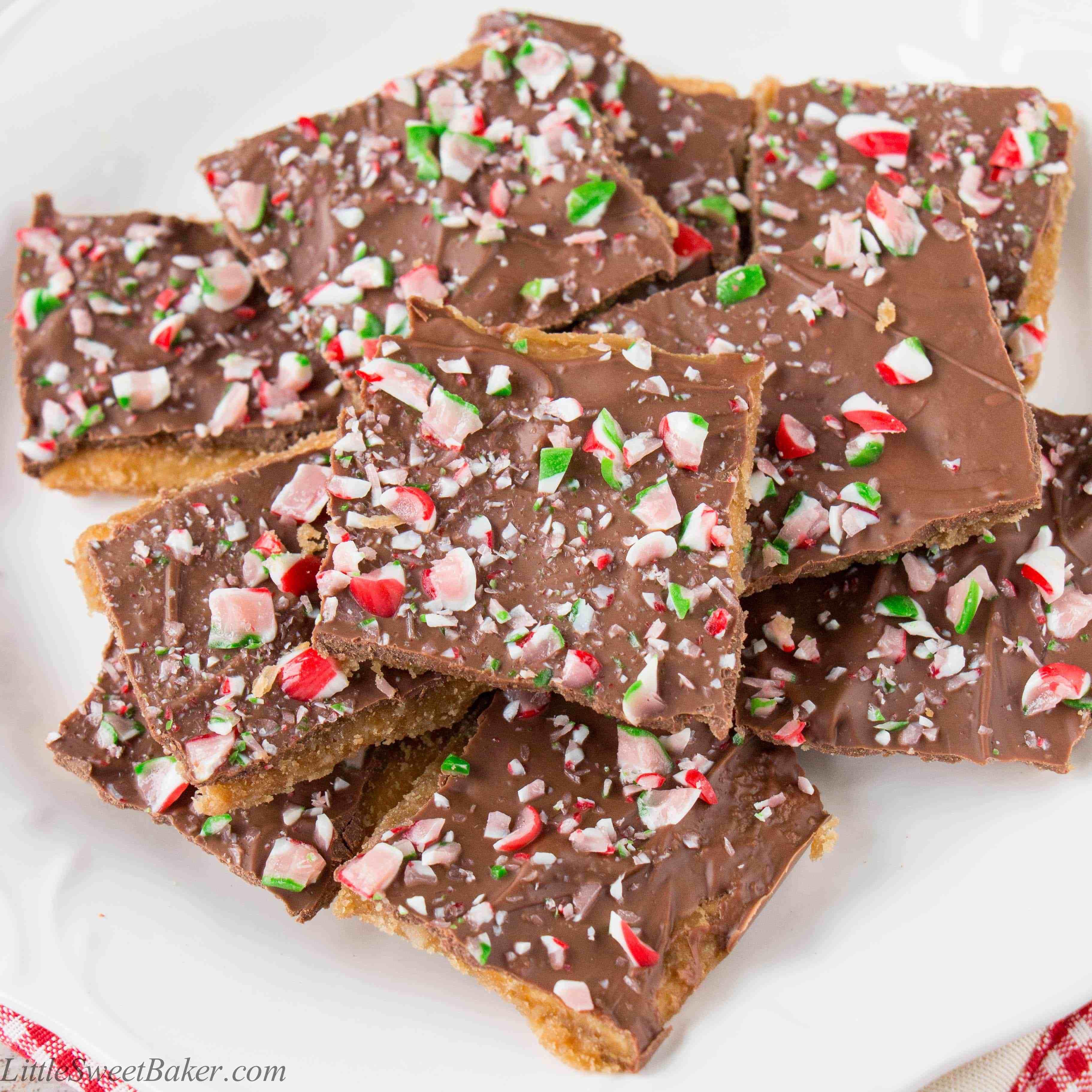 Christmas Cracker Candy  Christmas Crack video recipe Little Sweet Baker