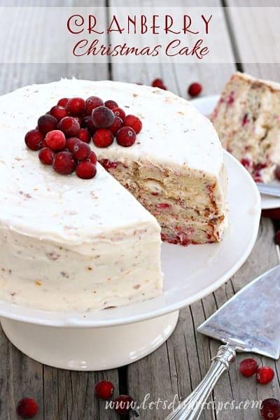 Christmas Cranberry Cake Recipe  Cranberry Christmas Cake — Let s Dish Recipes