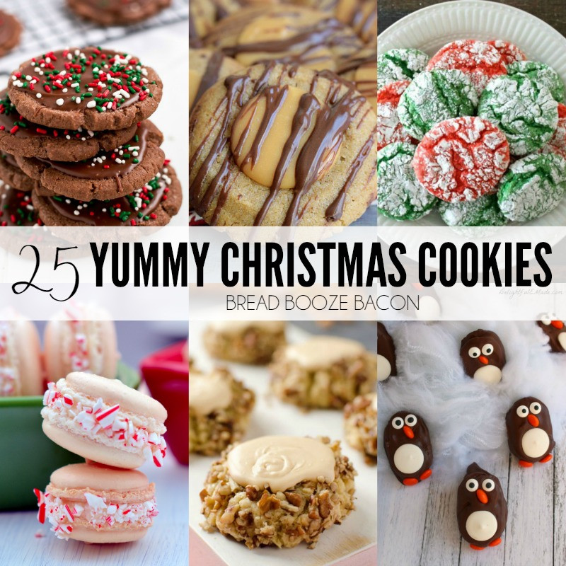 Christmas Crinkle Cool Whip Cookies  25 Yummy Christmas Cookies • Bread Booze Bacon