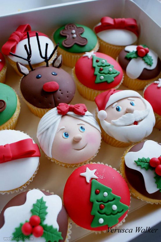 Christmas Cup Cakes Designs  25 Beautiful Christmas Cupcake Decorating ideas for your