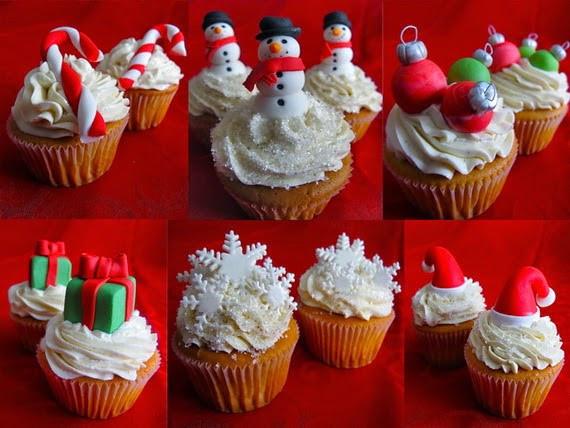 Christmas Cup Cakes Designs  The Sensational Cakes SIMPLE XMAS CUPCAKES 2014