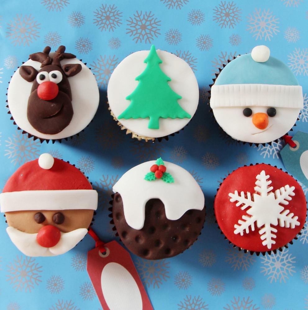 Christmas Cup Cakes Designs  Christmas Cupcake Recipe