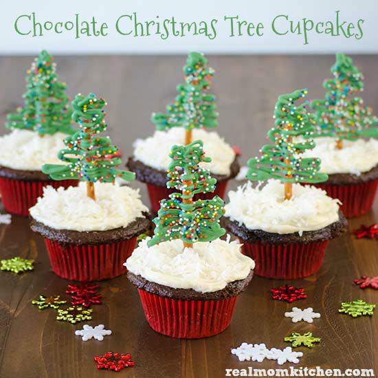 Christmas Cupcakes Images  Chocolate Christmas Tree Cupcakes and 13 Other Cupcake