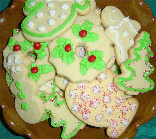 Christmas Cut Out Sugar Cookies Recipes  Elaines Holiday Cut Out Sugar Cookies Christmas Recipe