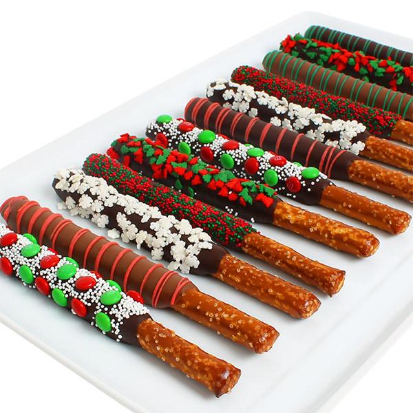 Christmas Dipped Pretzels  Christmas Pretzels by GourmetGiftBaskets