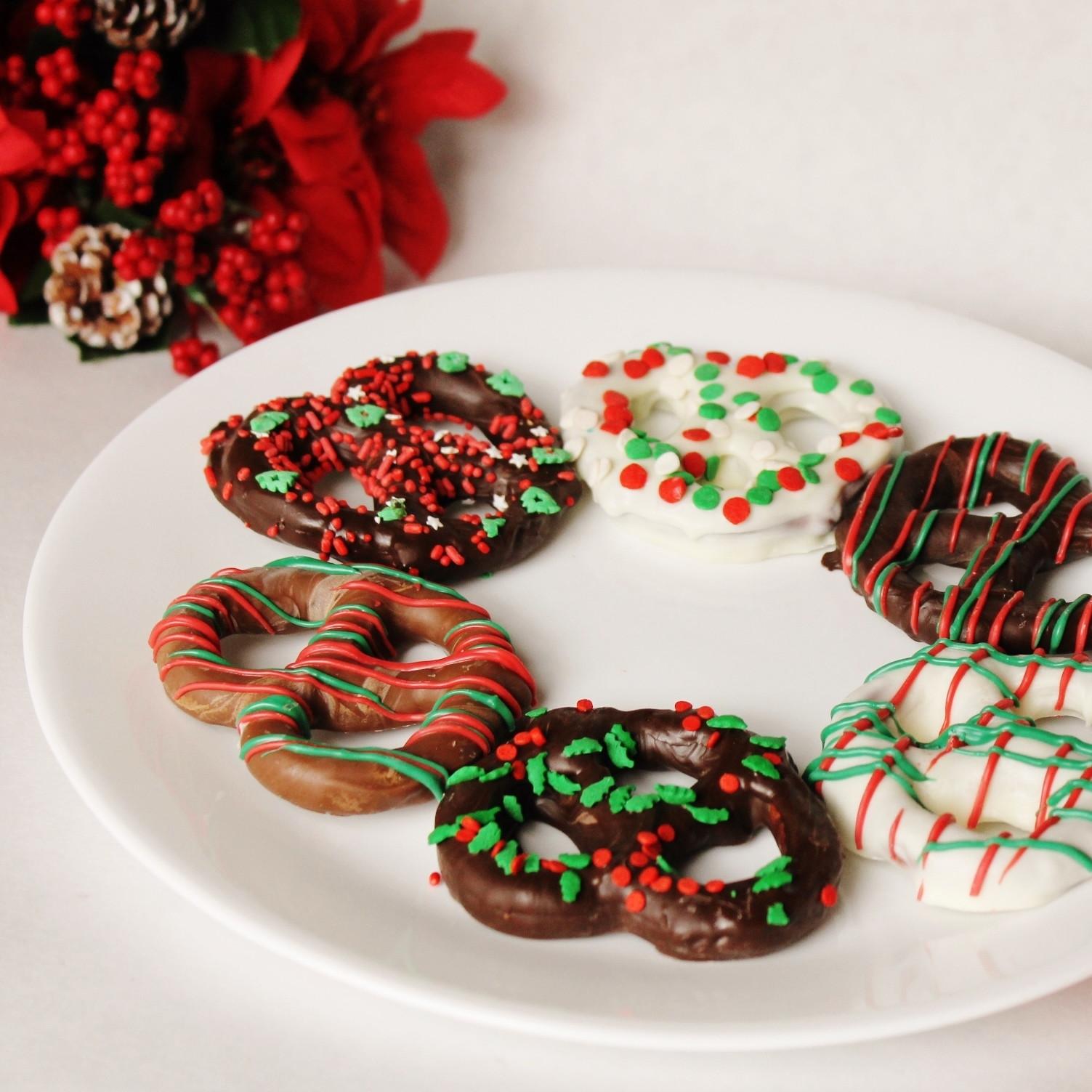 Christmas Dipped Pretzels  Christmas Chocolate Covered Pretzels Knots