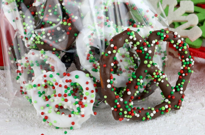 Christmas Dipped Pretzels  Homemade Chocolate Covered Pretzels Two Sisters