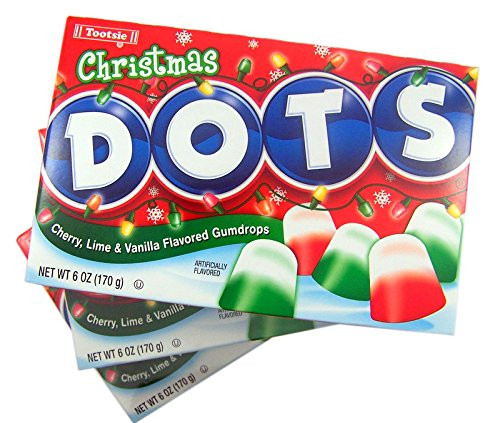 Christmas Dots Candy  Christmas Dots Gumdrop Candy Theater Box 6 oz Pack of 3