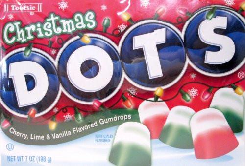 Christmas Dots Candy  Christmas Dots Candy Cherry Lime & Vanilla Gumdrops 7 oz