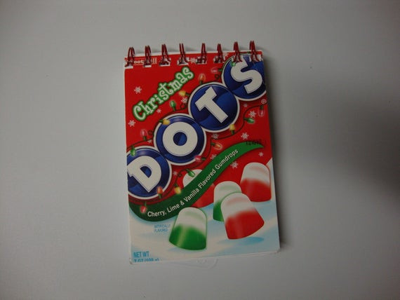 Christmas Dots Candy  Dots Candy Christmas Holiday Recycled Notebook