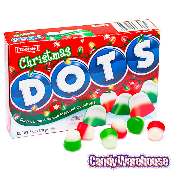 Christmas Dots Candy  Dots Candy Christmas 6 Ounce Packs 12 Piece Box
