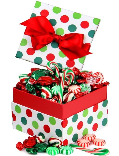 Christmas Dots Candy  Christmas Jovial Dot Candy Gift Box • Christmas Candy