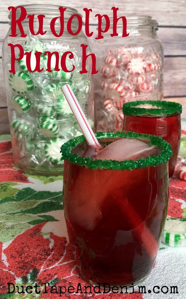 Christmas Drink Recipes With Alcohol  Rudolph Punch My Kids Favorite Easy Christmas Punch