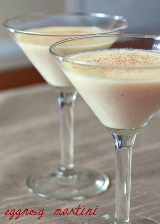 Christmas Eggnog Drink  Eggnog Martini