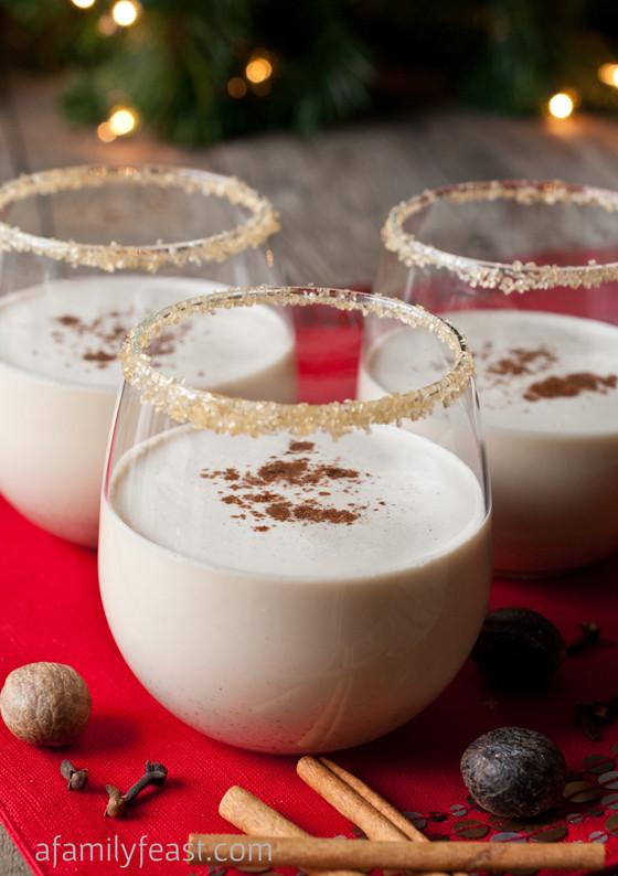 Christmas Eggnog Drink  Spiced Eggnog Cocktail A Family Feast