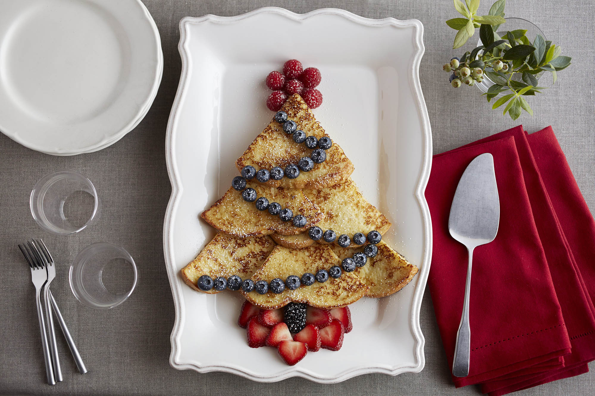Christmas French Toast  Christmas Tree Eggnog French Toast