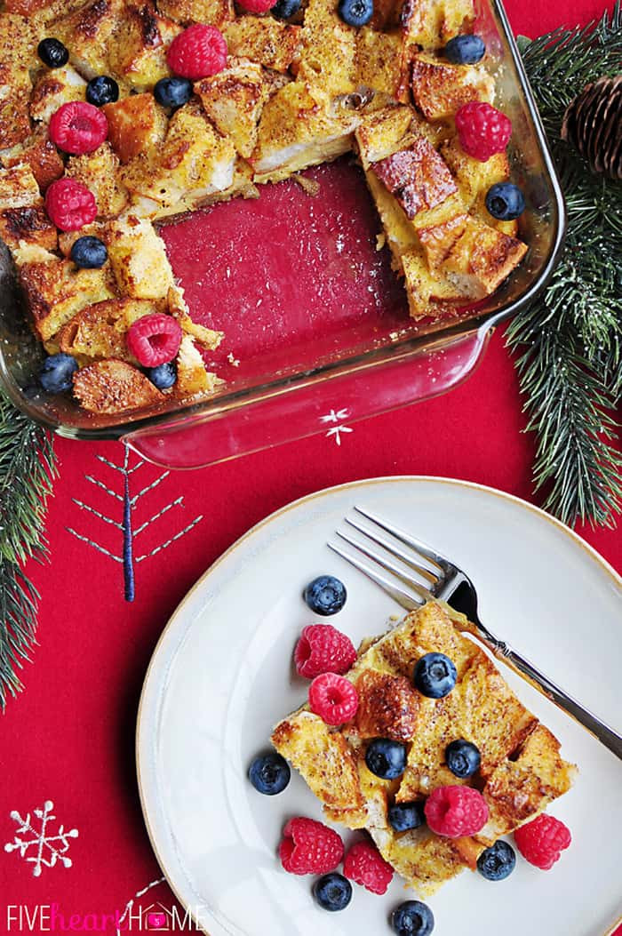 Christmas French Toast  Overnight Eggnog French Toast Casserole