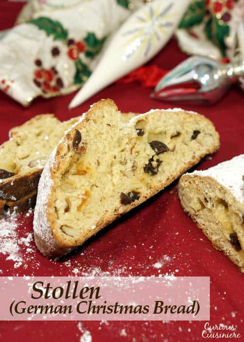 Christmas Fruit Bread  Stollen German Christmas Bread • Curious Cuisiniere