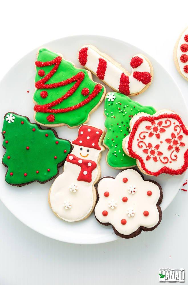 Christmas M&M Cookies  Christmas Sugar Cookies Cook With Manali