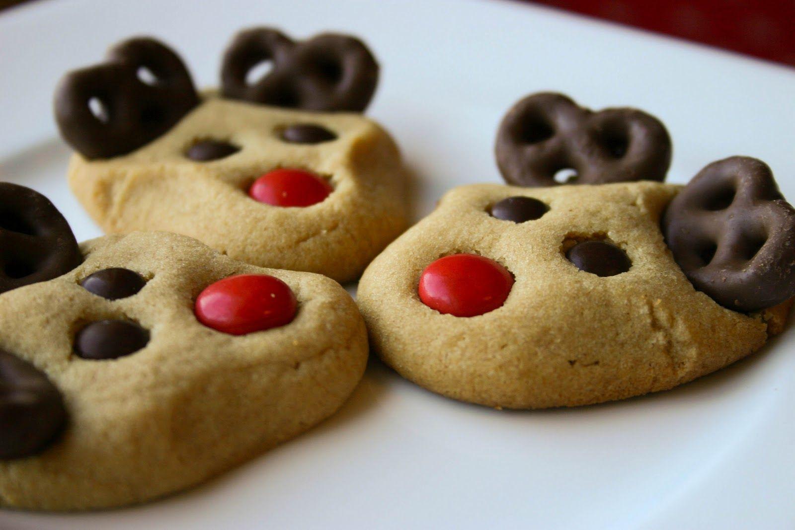 Christmas M&M Cookies  Reindeer Cookies on Pinterest