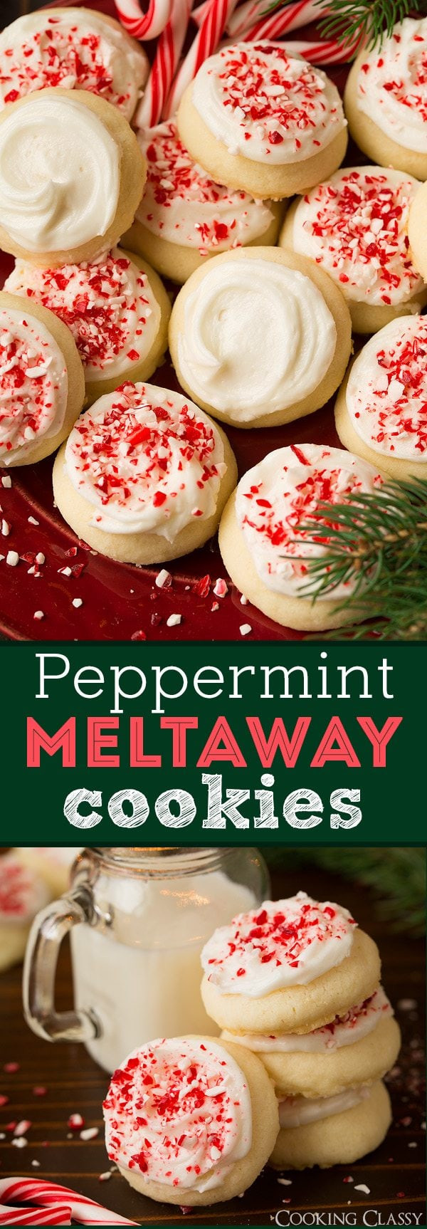 Christmas Meltaway Cookies  Peppermint Meltaway Cookies Cooking Classy