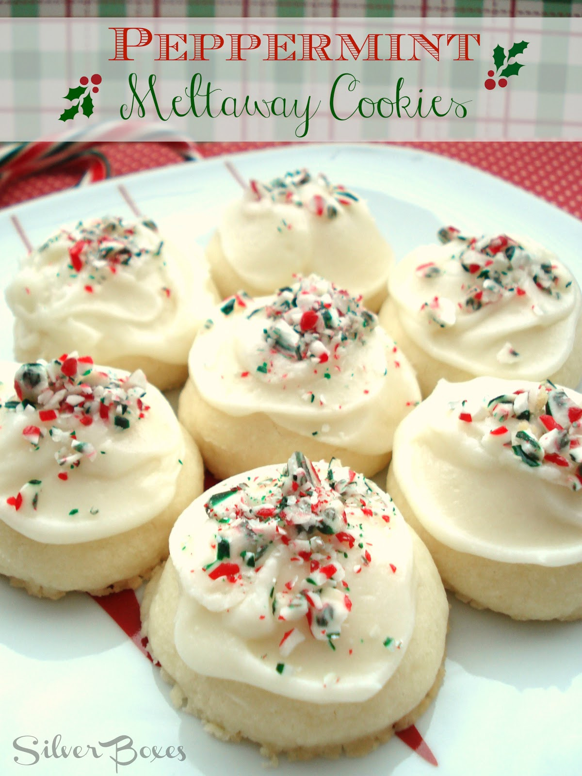 Christmas Meltaway Cookies  Silver Boxes Peppermint Meltaway Cookies