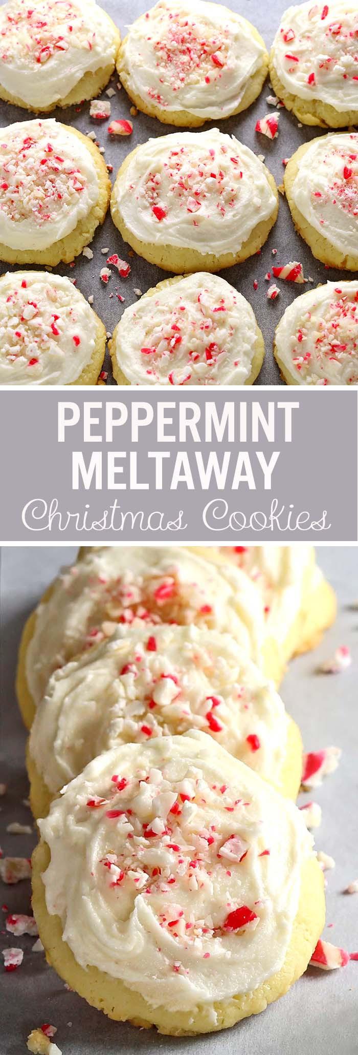 Christmas Meltaway Cookies  Peppermint Meltaway Cookies Cakescottage