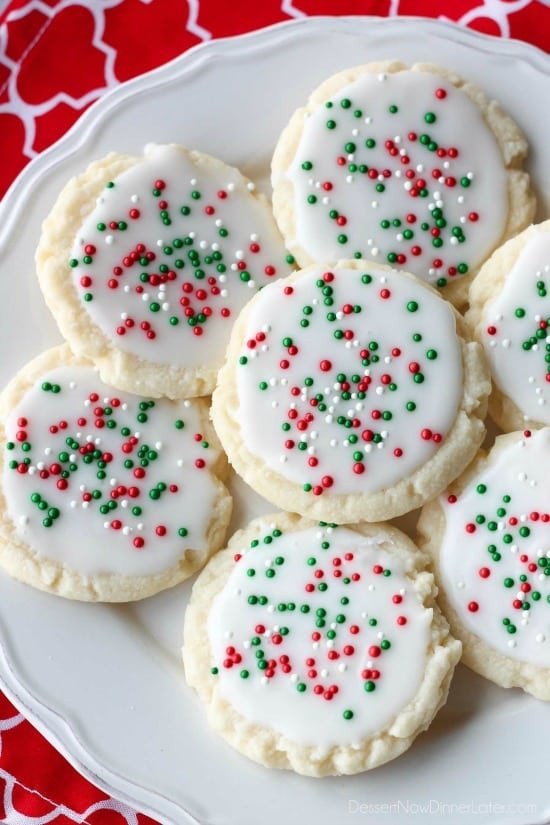 Christmas Meltaway Cookies  Christmas Meltaway Cookies Dessert Now Dinner Later