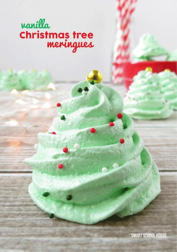 Christmas Meringue Cookies  Creative Christmas Food Art