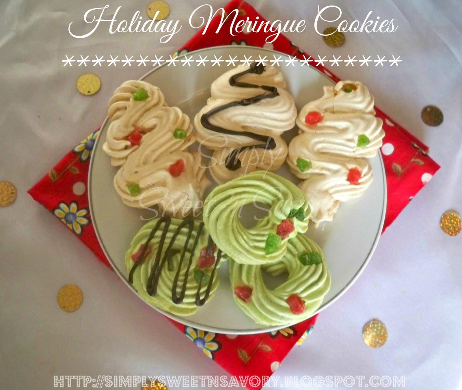 Christmas Meringue Cookies  Simply Sweet n Savory Holiday Meringue Cookies