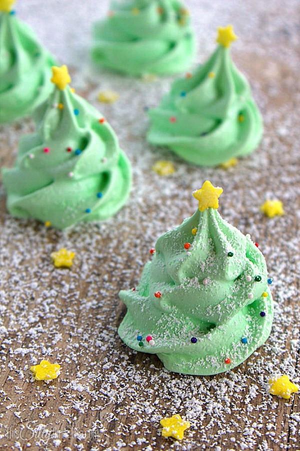 Christmas Meringue Cookies  Day 9 Christmas Tree Meringues B Lovely Events