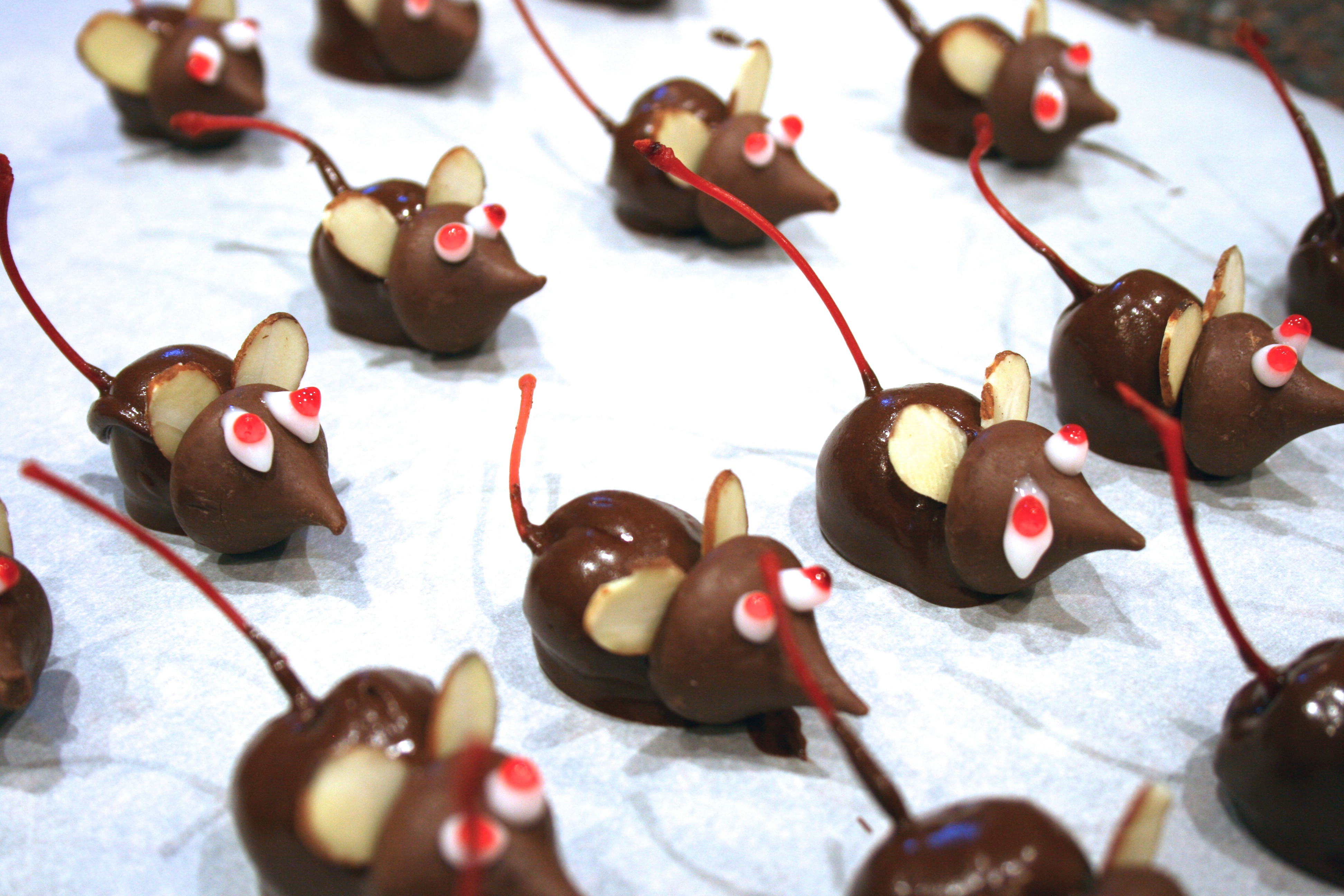 Christmas Mice Candy  Chocolate Cherry Mice Candy Recipe Finding Our Way Now