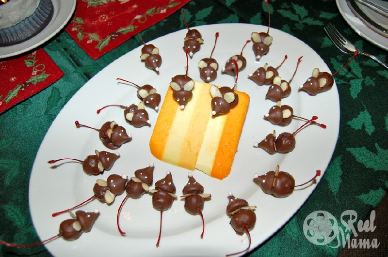 Christmas Mice Candy  How to make candy chocolate mice The Seventh Day of