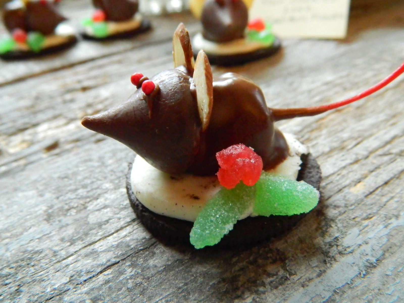Christmas Mice Candy  The Wednesday Baker OREO & CHERRY DIPPED CHRISTMAS MICE