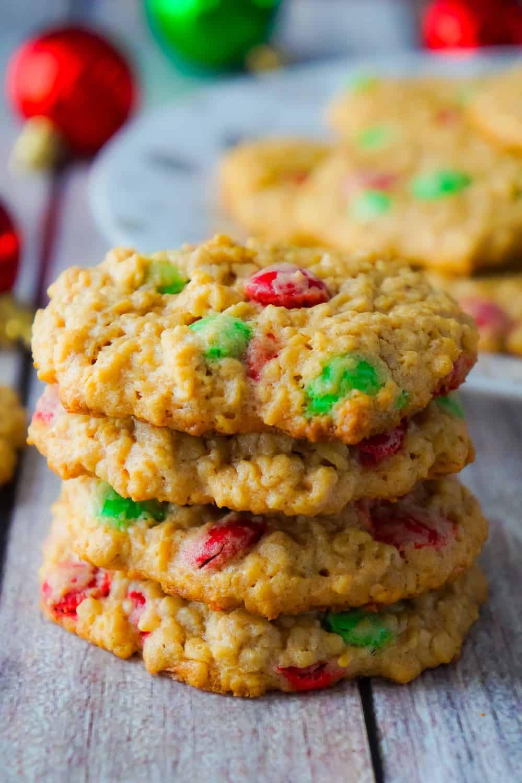 Christmas Oatmeal Cookies  Christmas Monster Cookies This is Not Diet Food