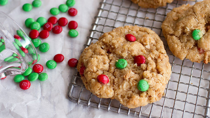 Christmas Oatmeal Cookies  Easy Holiday Oatmeal Cookies recipe from Tablespoon