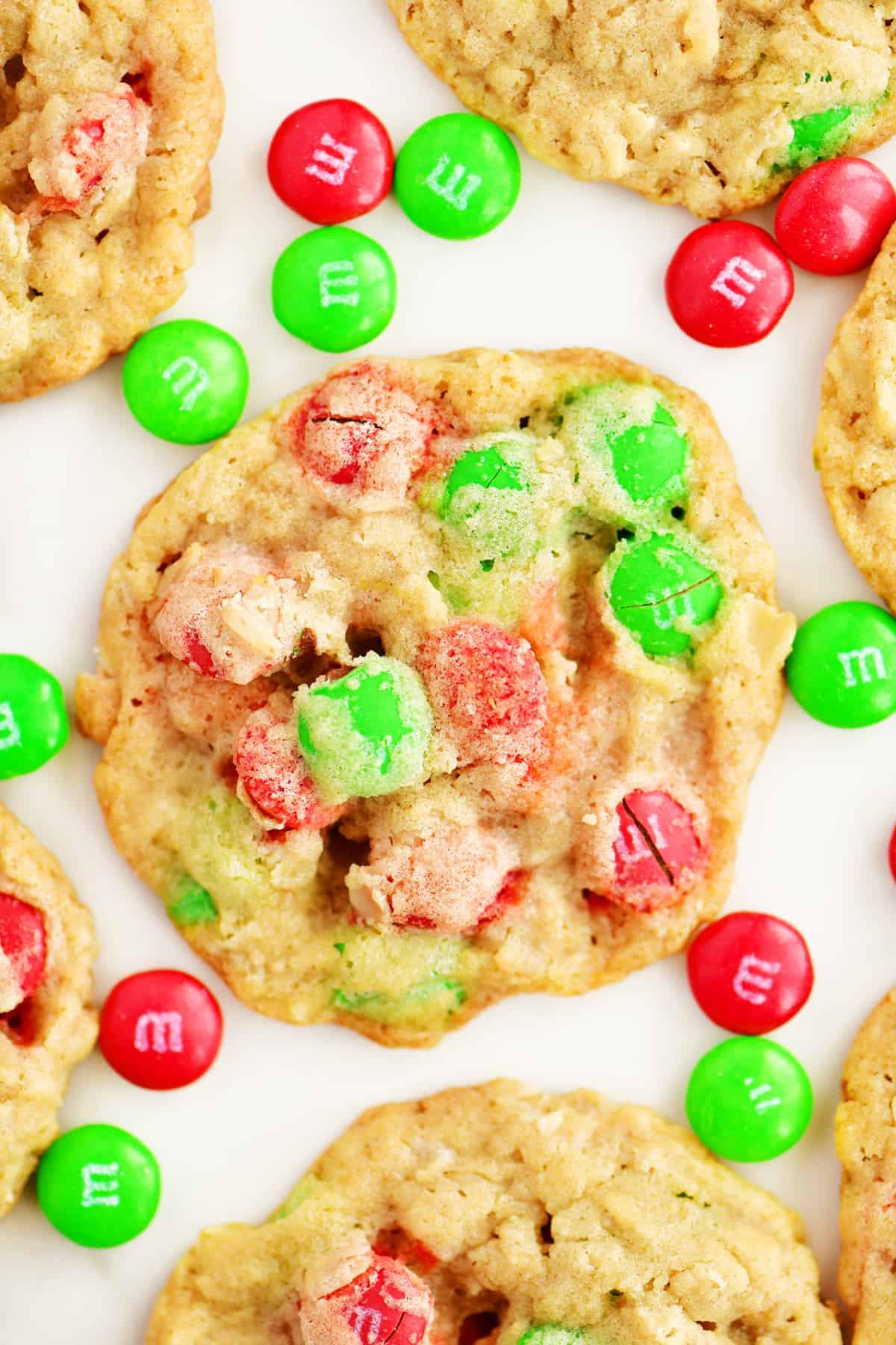 Christmas Oatmeal Cookies  Christmas Oatmeal M & M Cookies The Gunny Sack