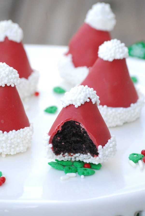 Christmas Oreo Desserts  Santa Hat OREO Cookie Balls