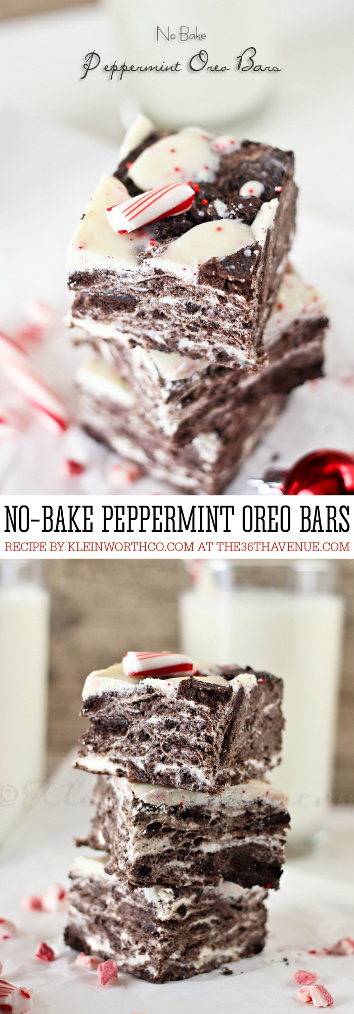 Christmas Oreo Desserts  No Bake Peppermint Oreo Bars The 36th AVENUE