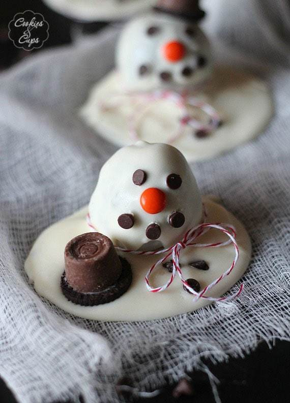 Christmas Oreo Desserts  Melting Snowman OREO Cookie Ball Recipe Cookies and Cups