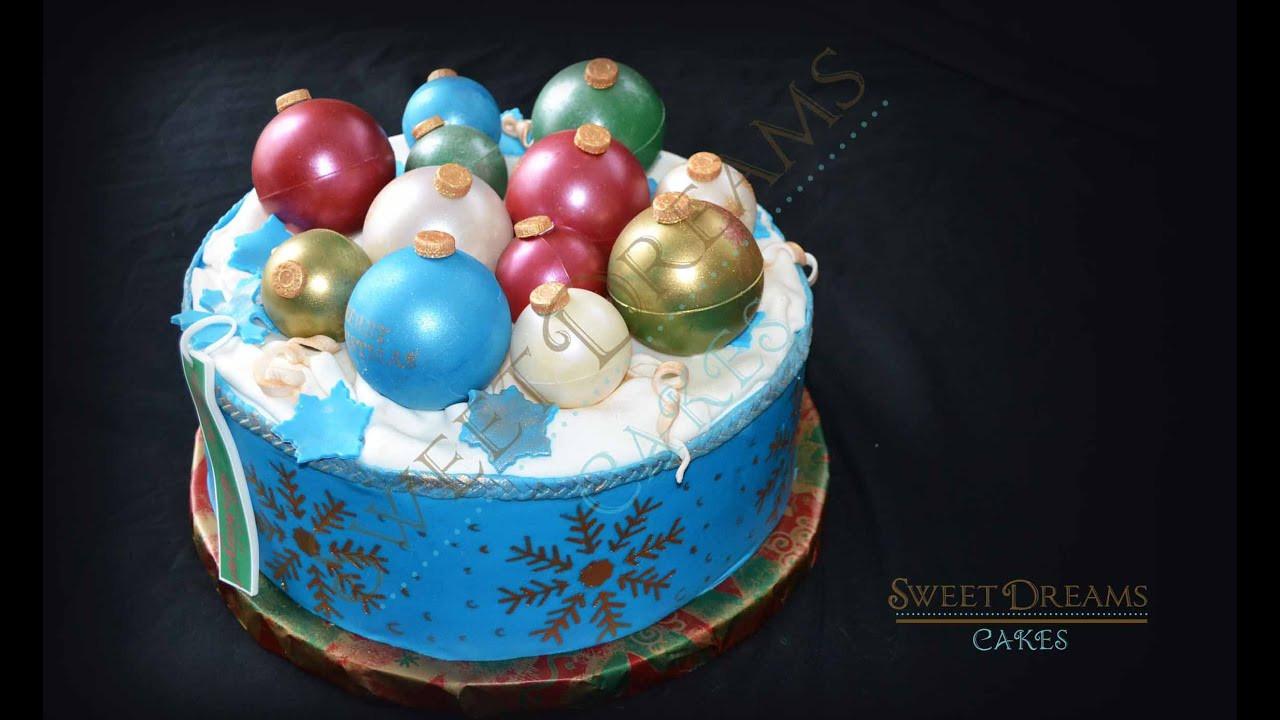Christmas Ornaments Cakes  How I make chocolate Christmas ornaments to decorate cake
