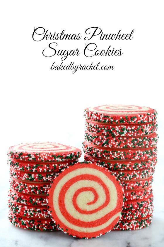 Christmas Pinwheel Sugar Cookies  Baked by Rachel Christmas Pinwheel Sugar Cookies